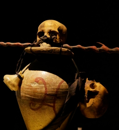 Vodou skull and jar at the Canadian Museum of Civilizations